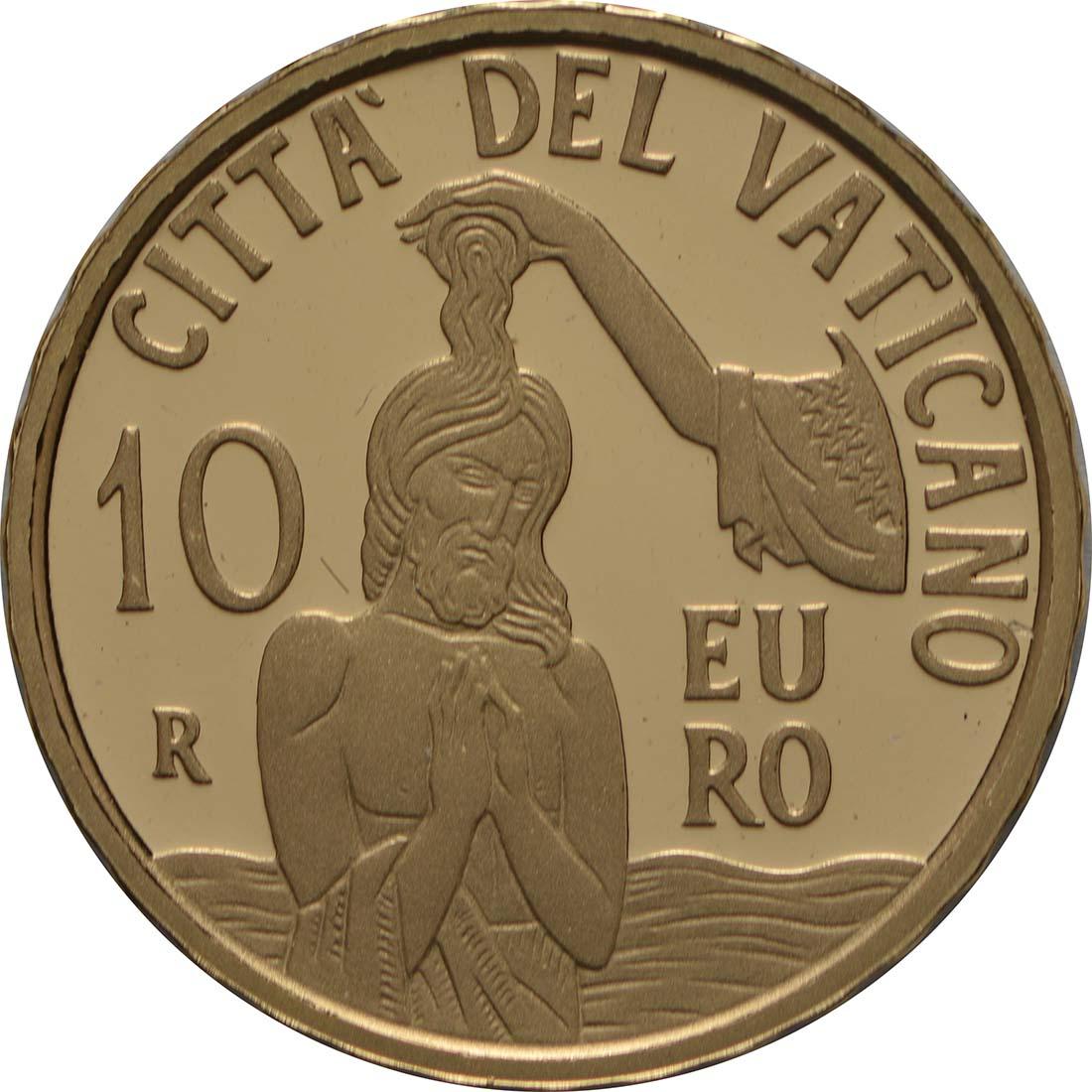 Vorderseite:Vatikan : 10 Euro Die Taufe - MMXVIII  2018 PP