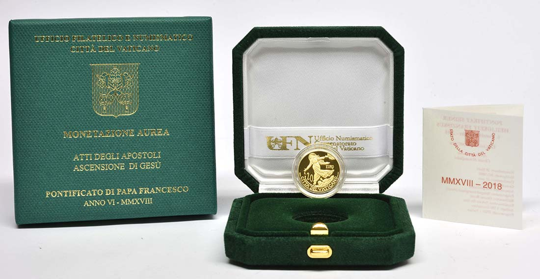 Übersicht:Vatikan : 20 Euro Apostelgeschichte: Himmelfahrt  2018 PP