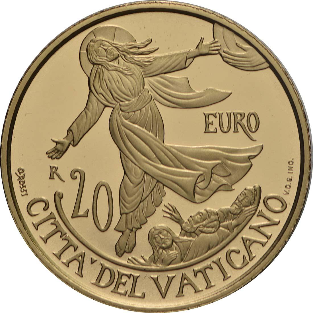 Vorderseite:Vatikan : 20 Euro Apostelgeschichte: Himmelfahrt  2018 PP
