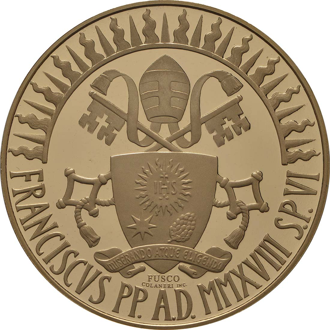 Rückseite:Vatikan : 100 Euro Apostolische Konstitution Zweites Vatikanisches Konzil: Sacrosanctum Concilium  2018 PP