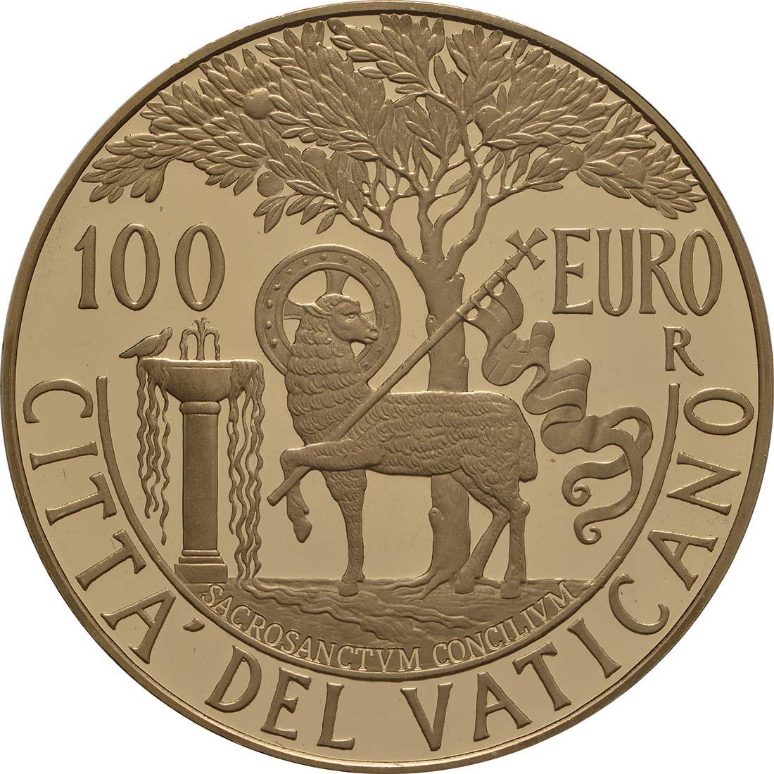 Vorderseite:Vatikan : 100 Euro Apostolische Konstitution Zweites Vatikanisches Konzil: Sacrosanctum Concilium  2018 PP