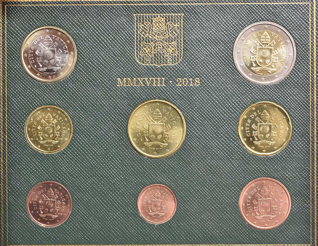 Rückseite:Vatikan : 3,88 Euro KMS Vatikan  2018 Stgl.