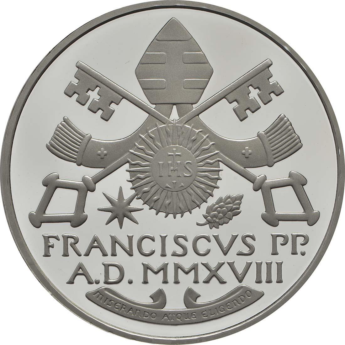 Vorderseite:Vatikan : 23,88 Euro KMS Vatikan mit 20 Euro Gedenkmünze  2018 PP