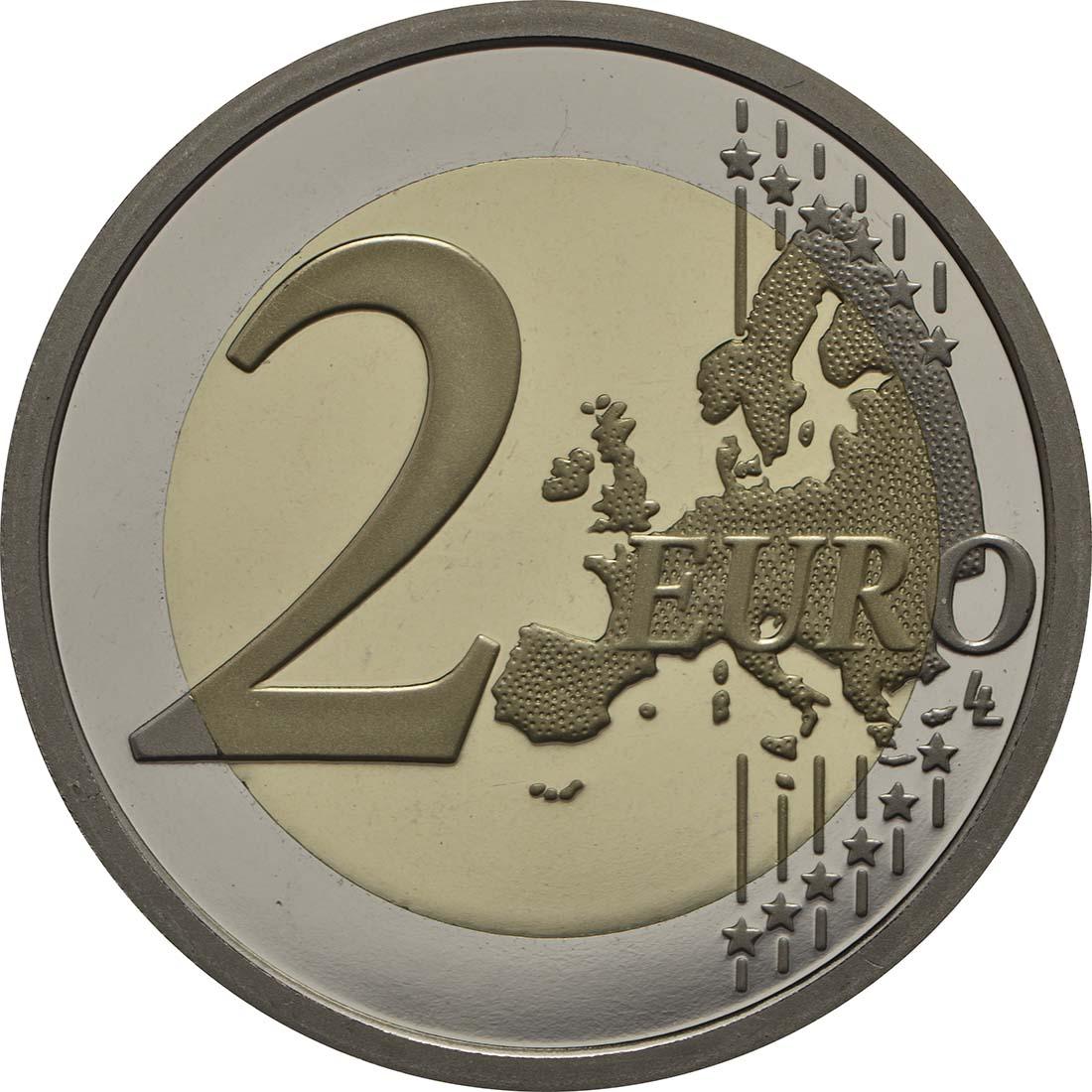 Vorderseite :Italien : 2 Euro 60. Jahrestag der Gründung des Gesundheitsministeriums 1958-2018  2018 PP