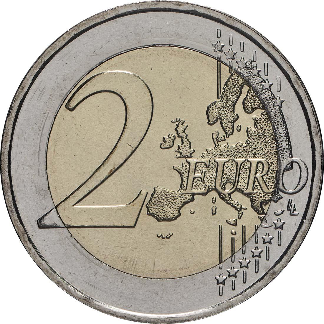 Vorderseite:Griechenland : 2 Euro 70. Jahrestag der Vereinigung des Dodekanes mit Griechenland  2018 bfr