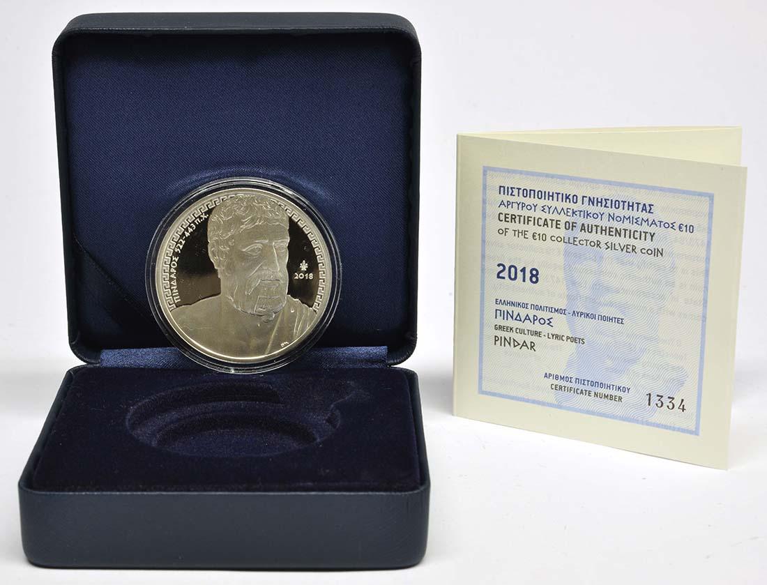Griechenland : 10 Euro Pindar - Poet  2018 PP