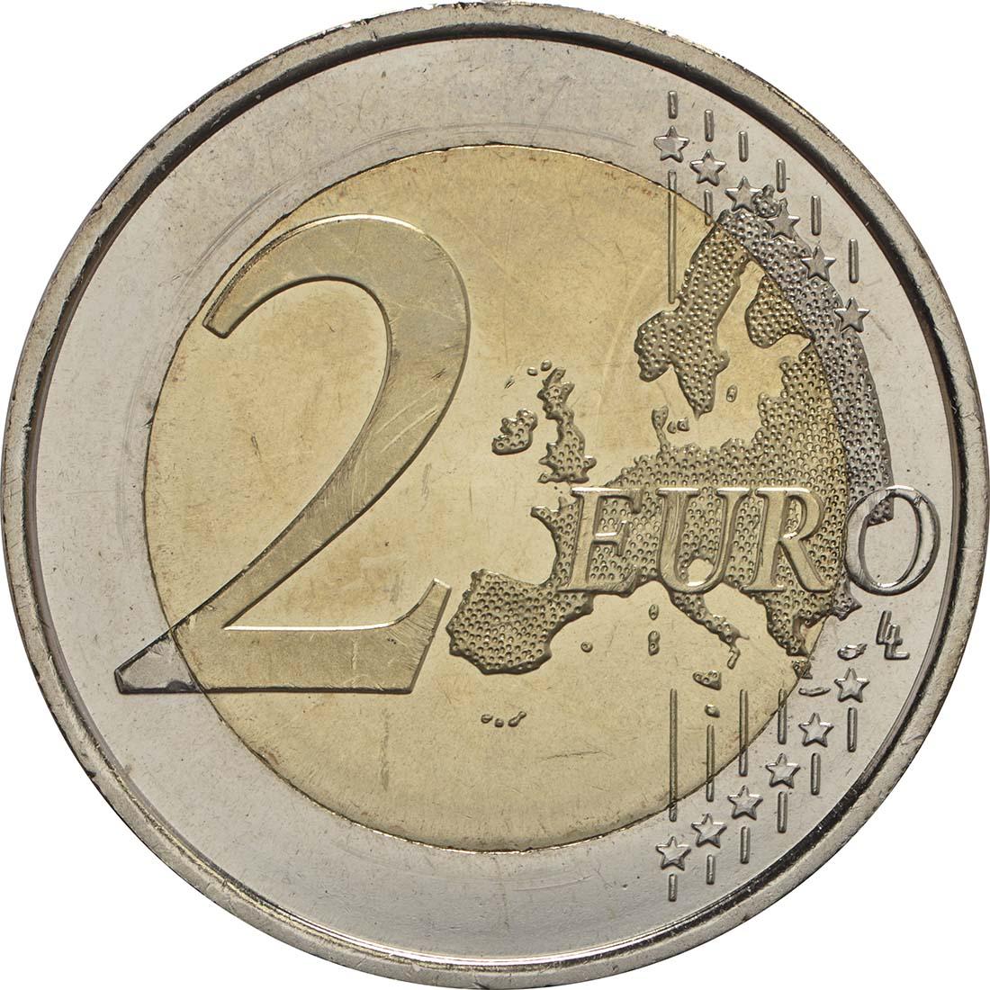 Vorderseite:Spanien : 2 Euro 50. Geburtstag von König Felipe VI  2018 bfr