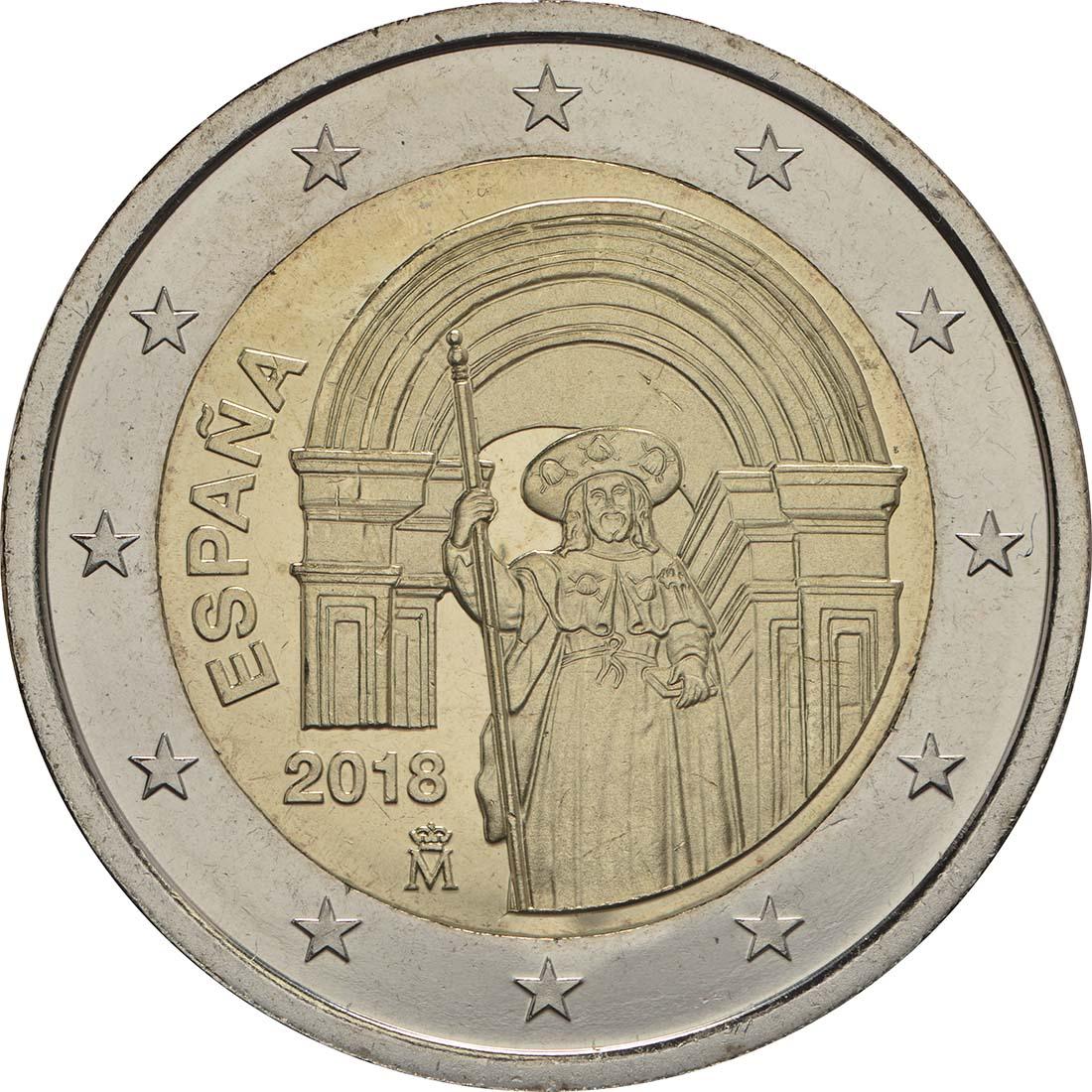 Rückseite :Spanien : 2 Euro Santiago de Compostela  2018 bfr