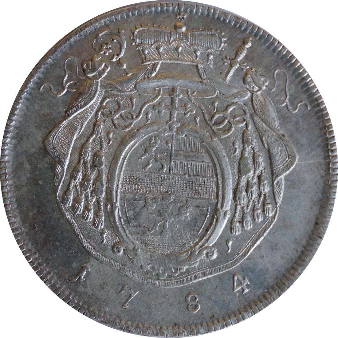 Vorderseite :Deutschland : 1 Taler Hieronymus von Colloredeo 1772 - 1803  1784 vz.