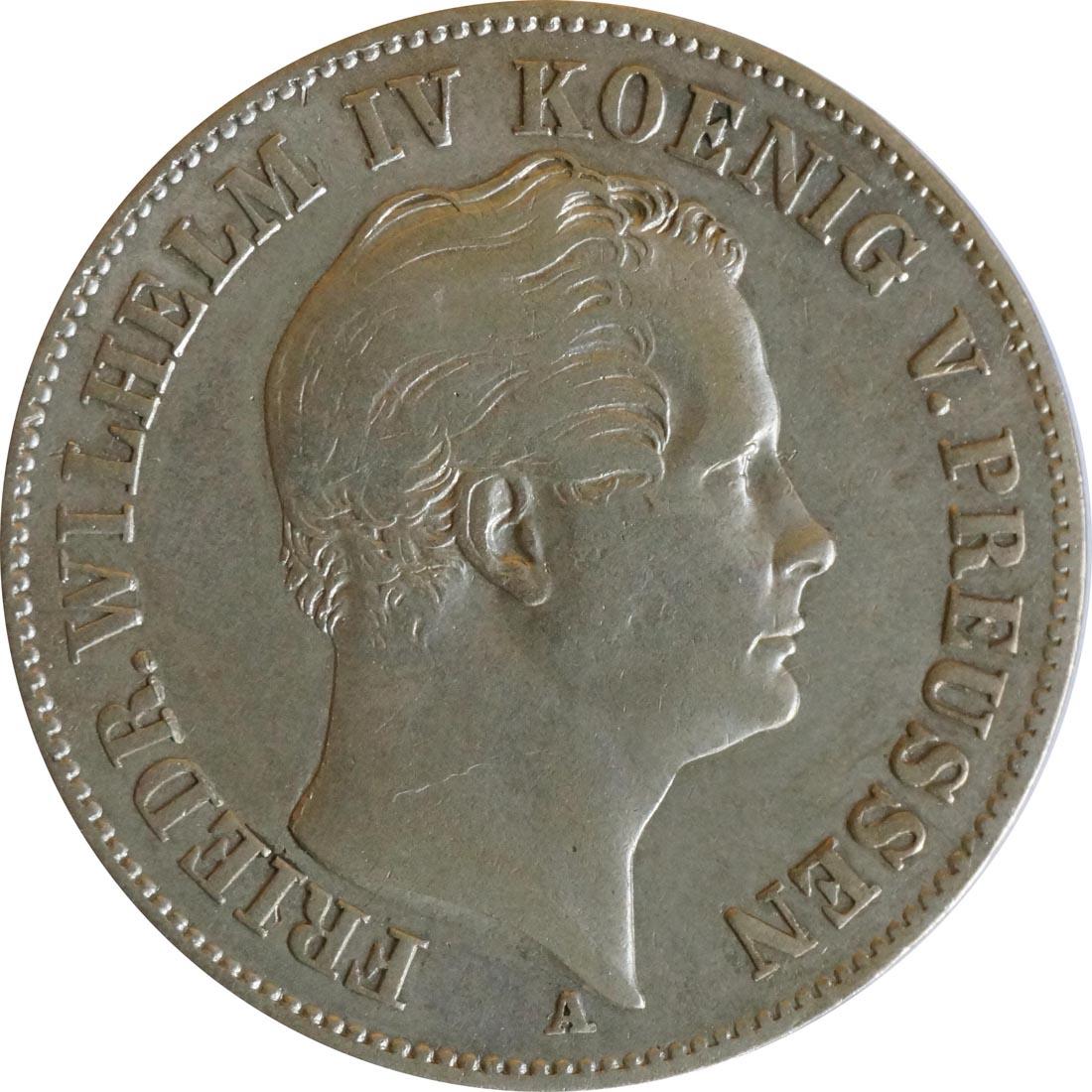 Rückseite :Deutschland : 1 Ausbeutetaler   1848 ss.