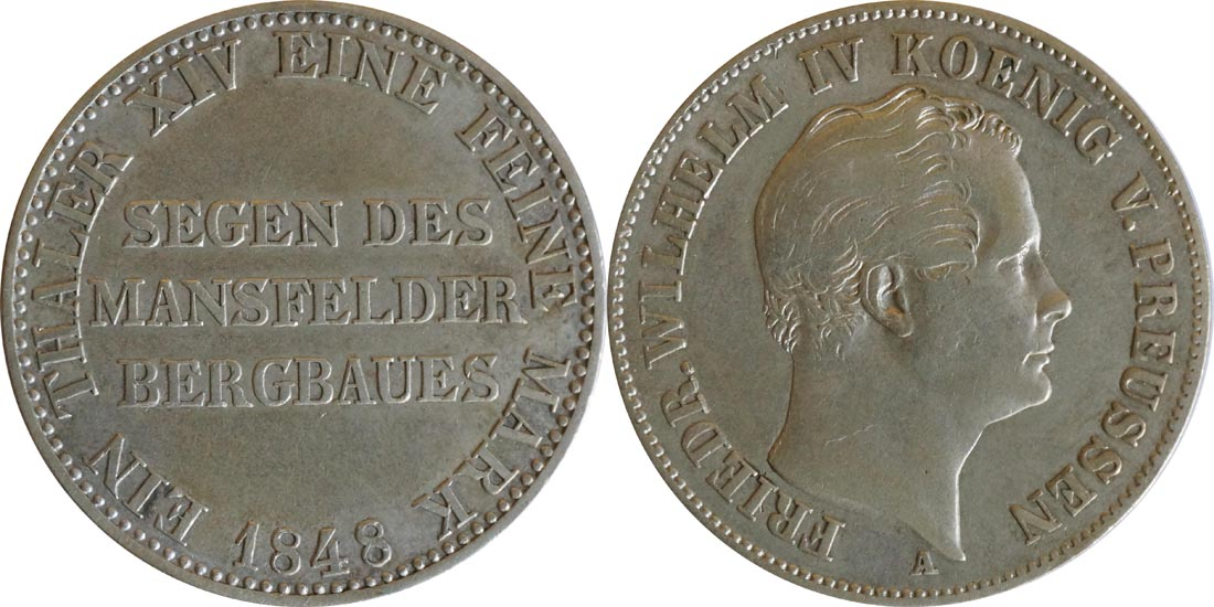 Deutschland : 1 Ausbeutetaler   1848 ss.