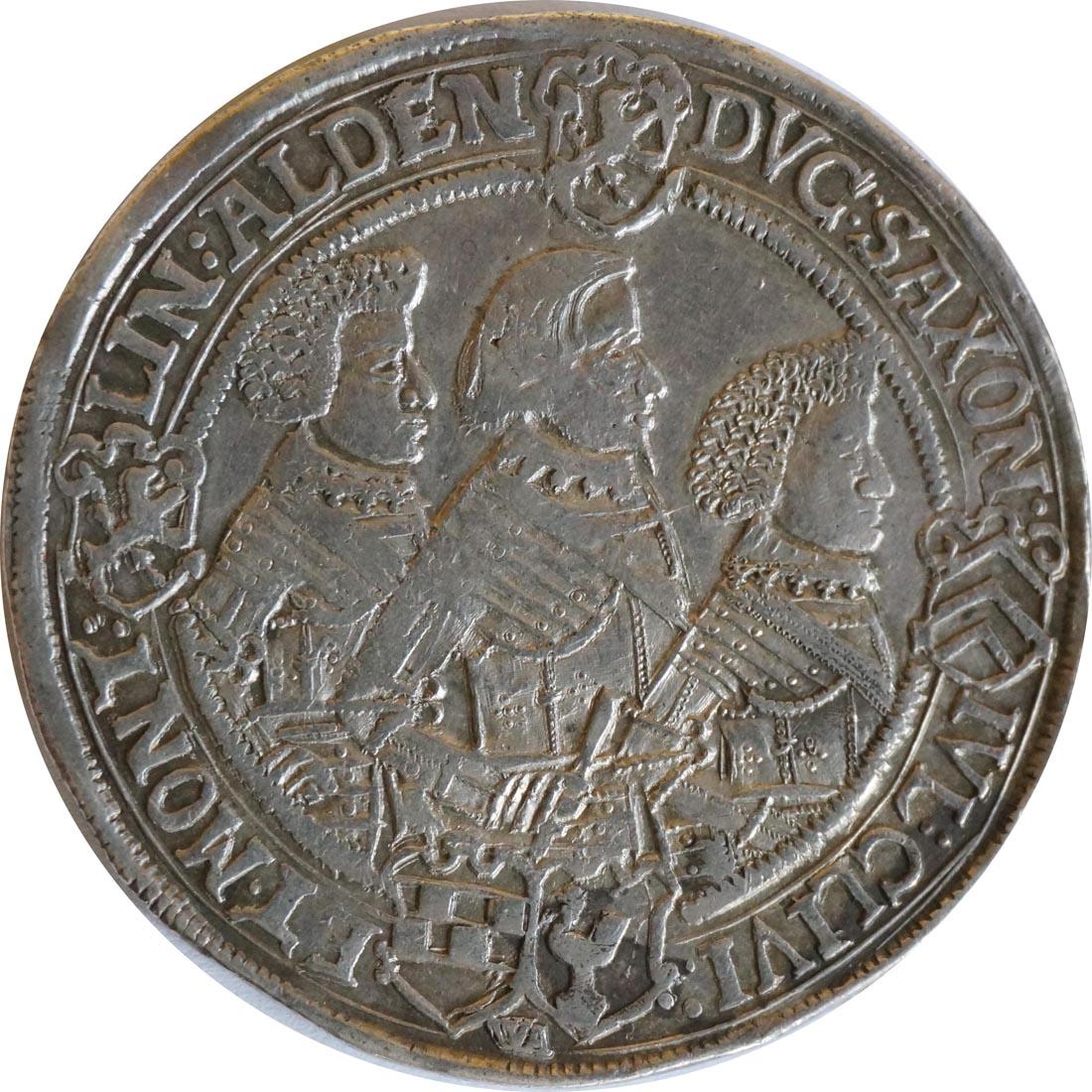 Vorderseite:Deutschland : 1 Reichstaler Johann Philipp u. seine Brüder 1603 - 1625 patina 1624 ss/vz.