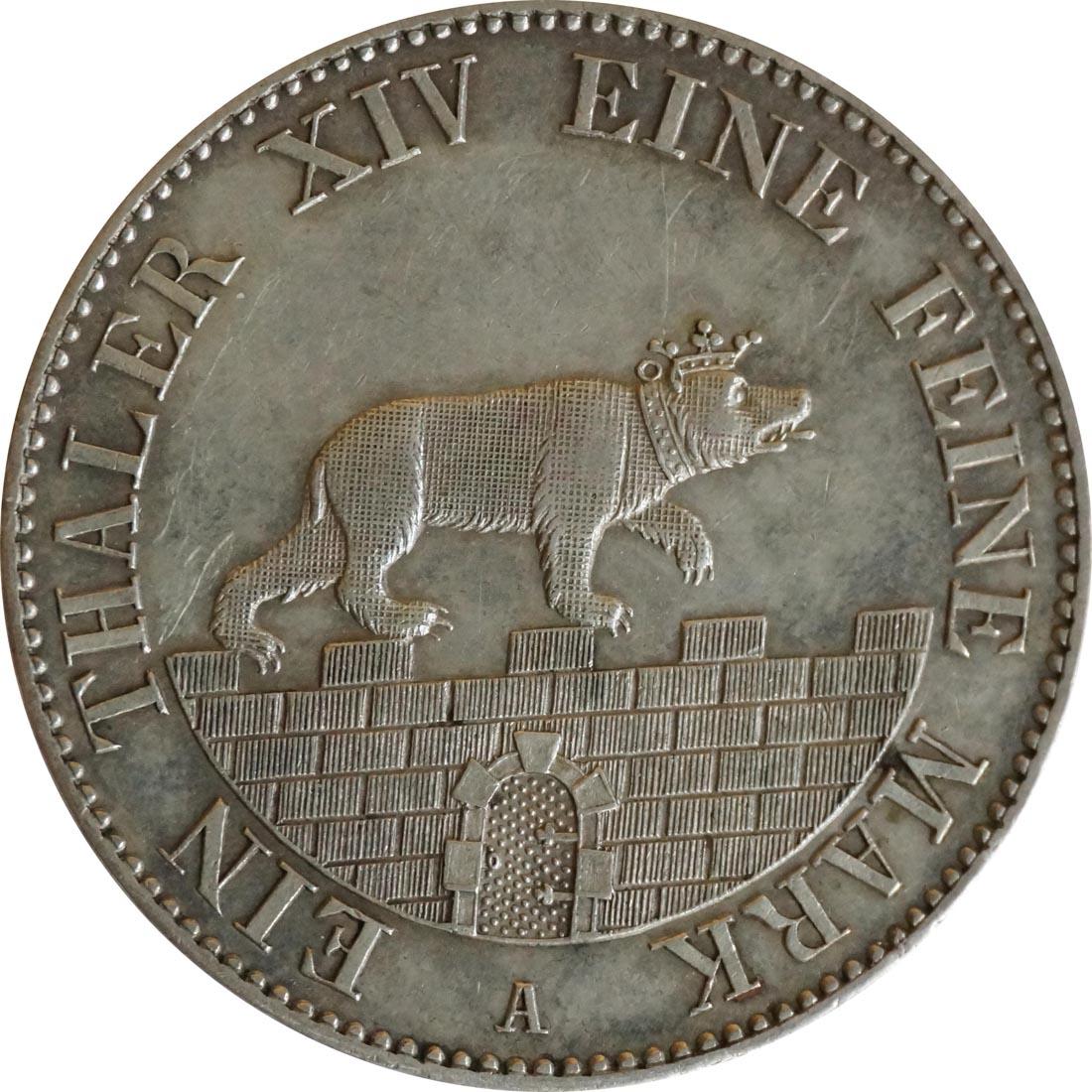 Rückseite:Deutschland : 1 Ausbeutetaler   1846 vz/Stgl.