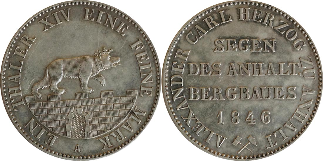 Lieferumfang:Deutschland : 1 Ausbeutetaler   1846 vz/Stgl.