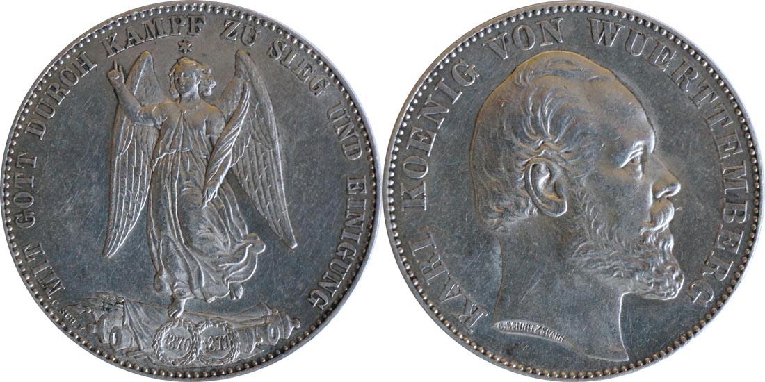 Übersicht:Deutschland : 1 Siegestaler   1871 vz.