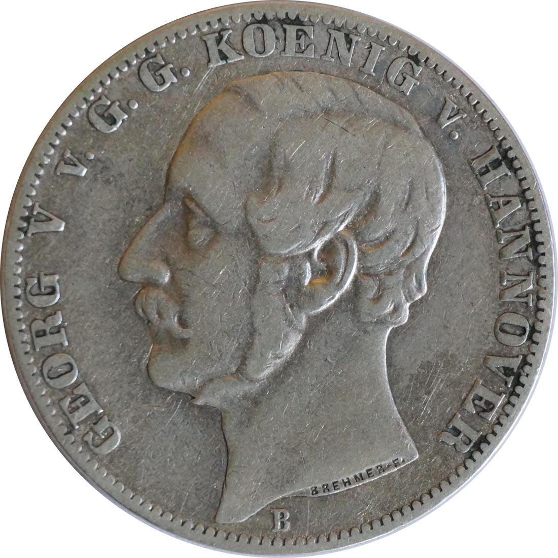 Rückseite:Deutschland : 1 Vereinstaler   1862 f.ss
