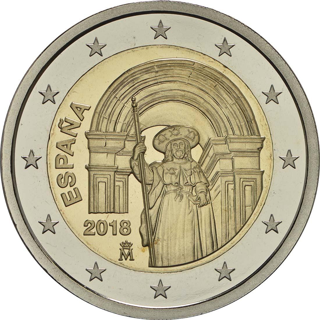 Rückseite:Spanien : 2 Euro Santiago de Compostela   2018 PP