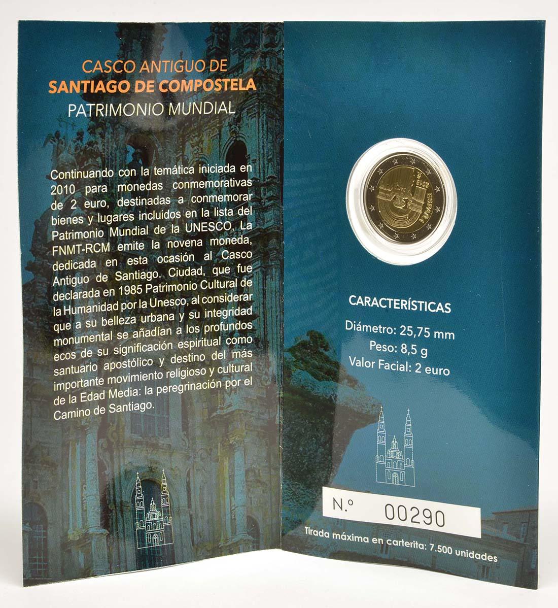 Lieferumfang:Spanien : 2 Euro Santiago de Compostela   2018 PP