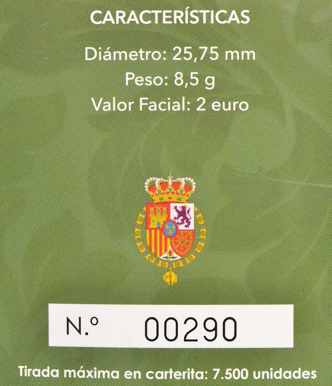 Zertifikat:Spanien : 2 Euro 50. Geburtstag von König Felipe VI   2018 PP