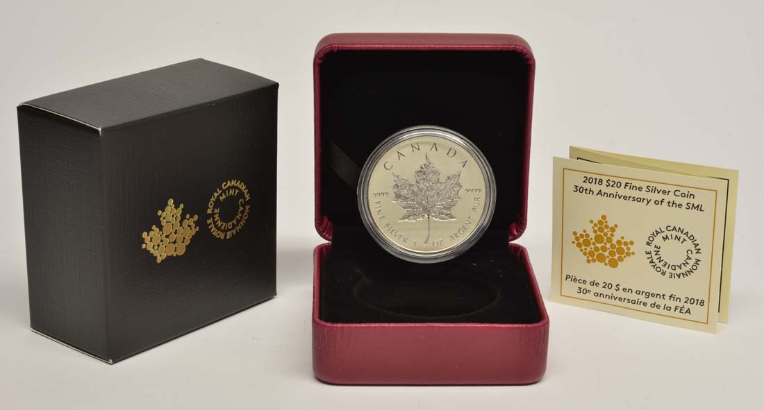 Kanada : 20 Dollar 30 Jahre Maple Leaf - Incuse  2018 PP
