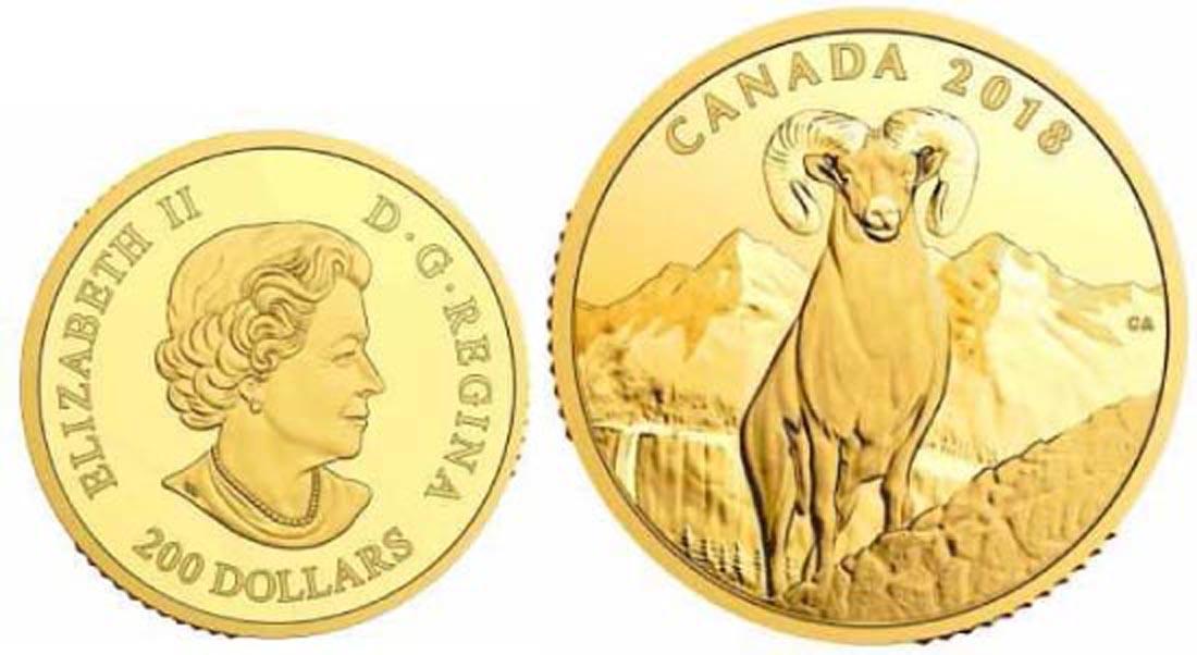 Kanada : 200 Dollar Dickhornschaf  2018 PP