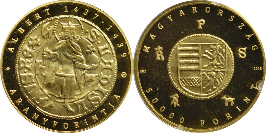 Lieferumfang:Ungarn : 50000 Forint Goldflorin von Albert von Habsburg  2018 Stgl.