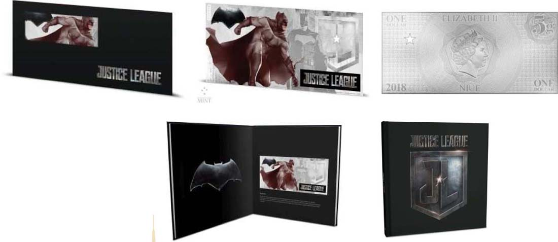 Niue : 1 Dollar Justice League - Batman Silberbanknote  2018 Stgl.