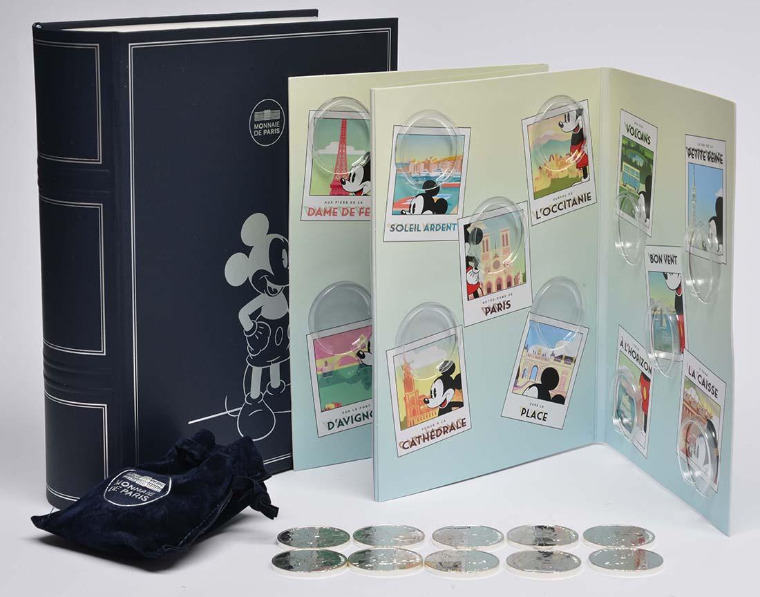 Frankreich : 100 Euro 10x10 Euro Micky Maus in Frankreich Set 1 von 2 im Sammelalbum  2018 bfr