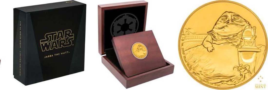 Niue : 250 Dollar Star Wars - Jabba the Hutt  2018 PP