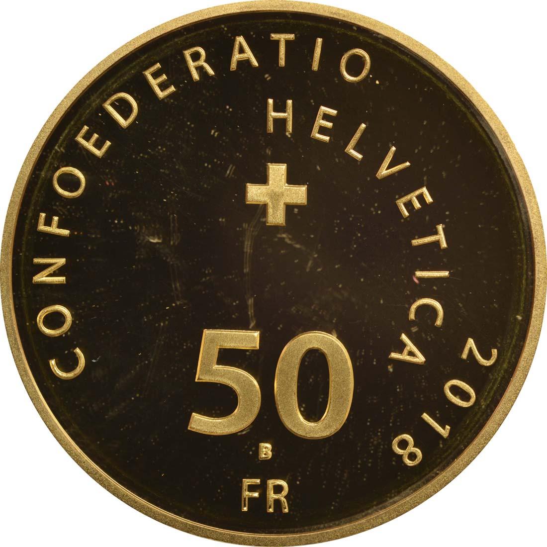 Rückseite:Schweiz : 50 Franken Wilhelm Tell  2018 PP