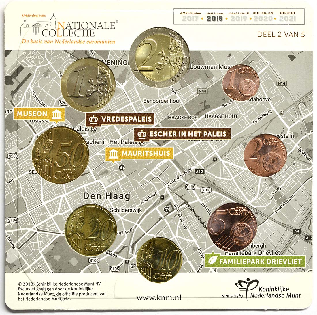 Rückseite:Niederlande : 3,88 Euro KMS Niederlande klein  2018 vz/Stgl.