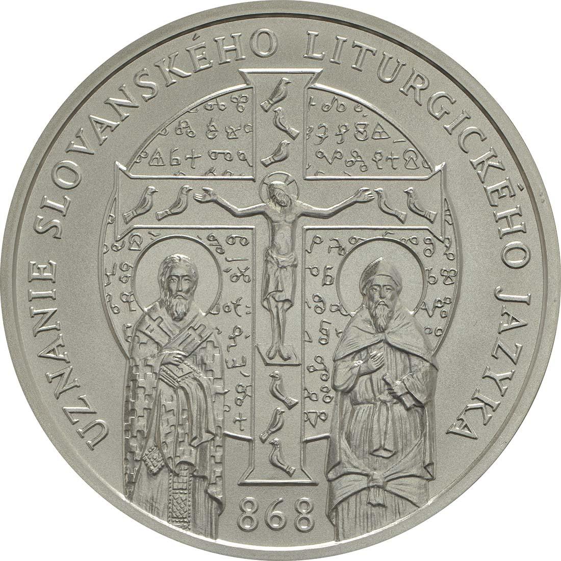 Vorderseite:Slowakei : 10 Euro 1150 Jahre Kirchenslawisch (Liturgiesprache)  2018 bfr