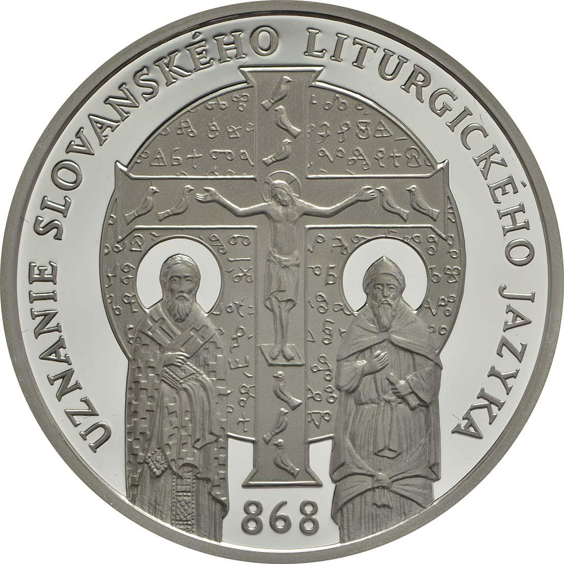 Vorderseite :Slowakei : 10 Euro 1150 Jahre Kirchenslawisch (Literatursprache)  2018 PP