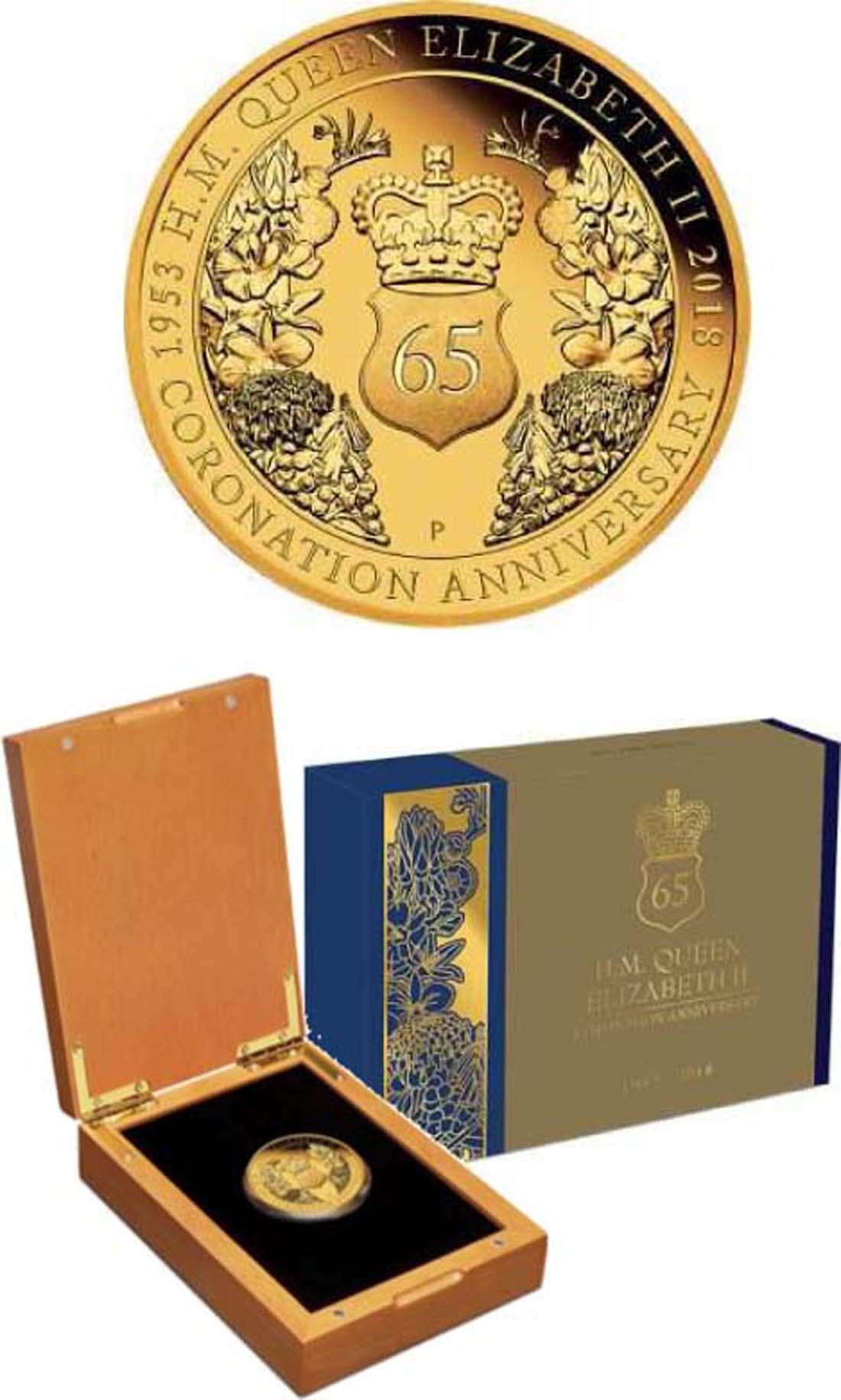 Australien : 200 Dollar 25 $ 2018 Elizabeth II. - 65. Krönungsjubiläum  2018 PP