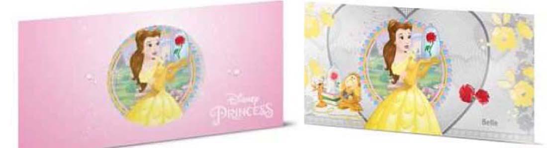 Niue : 1 Dollar Disney Prinzessinnen - Belle Silberbanknote  2018 Stgl.
