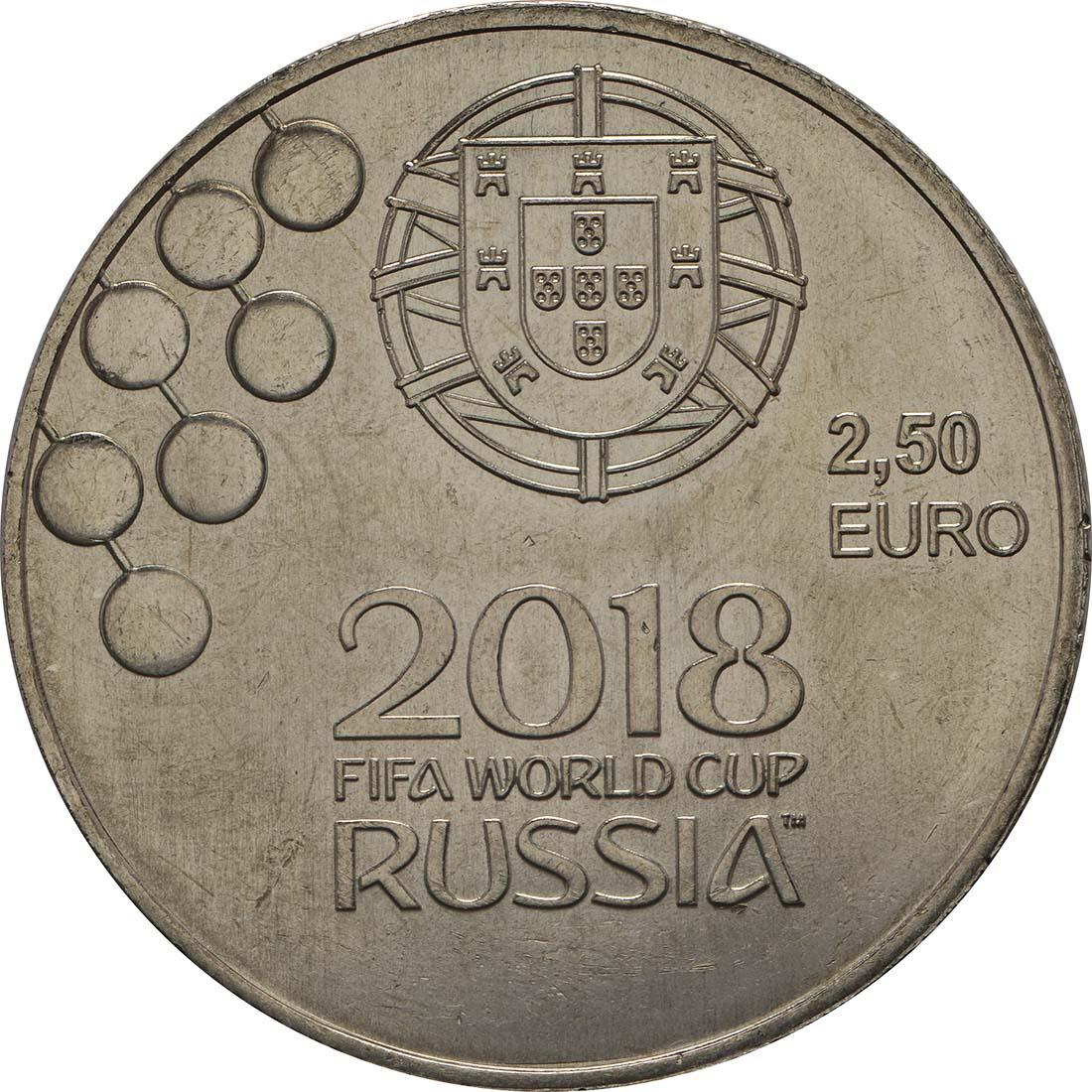 Rückseite:Portugal : 2,5 Euro FIFA Fußball WM  2018 bfr