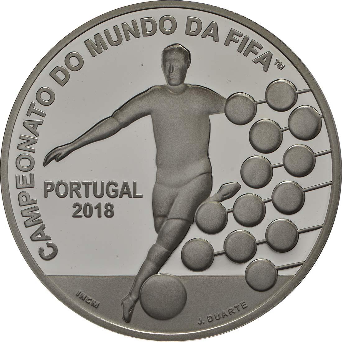 Vorderseite:Portugal : 2,5 Euro FIFA Fußball WM  2018 PP