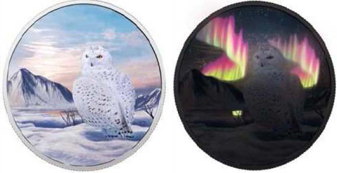 Kanada : 30 Dollar Arktische Tiere und Nordlicht - Schneeeule  2018 PP