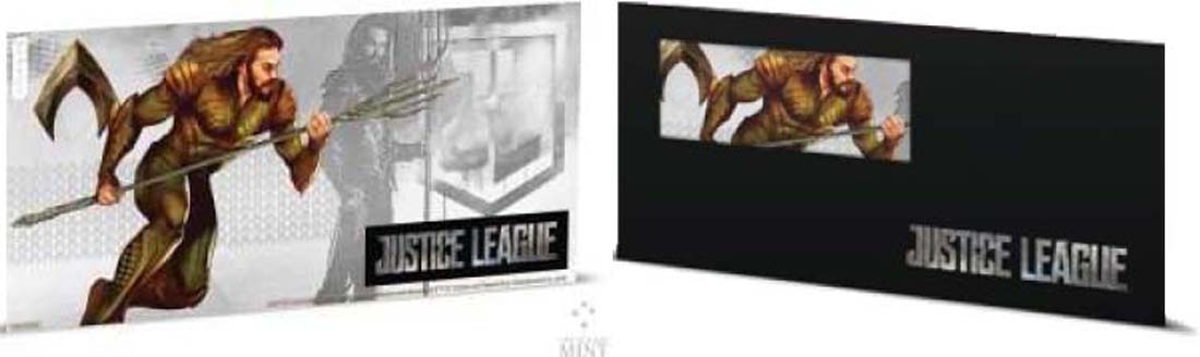 Niue : 1 Dollar Justice League - Aquaman Silberbanknote  2018 PP