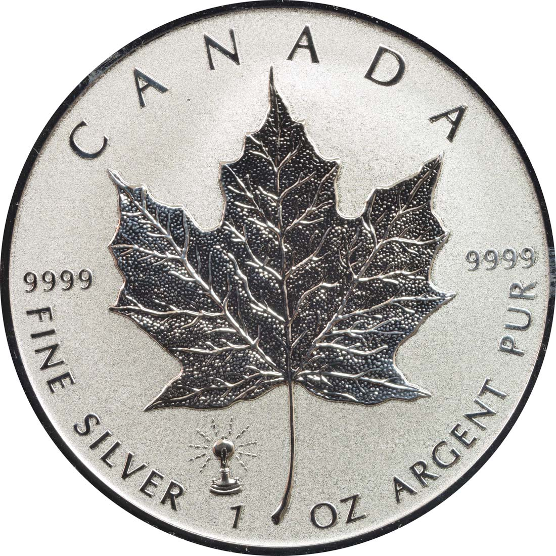 Vorderseite:Kanada : 5 Dollar Maple Leaf - Privy Mark - Edison - Glühbirne  2018 Stgl.