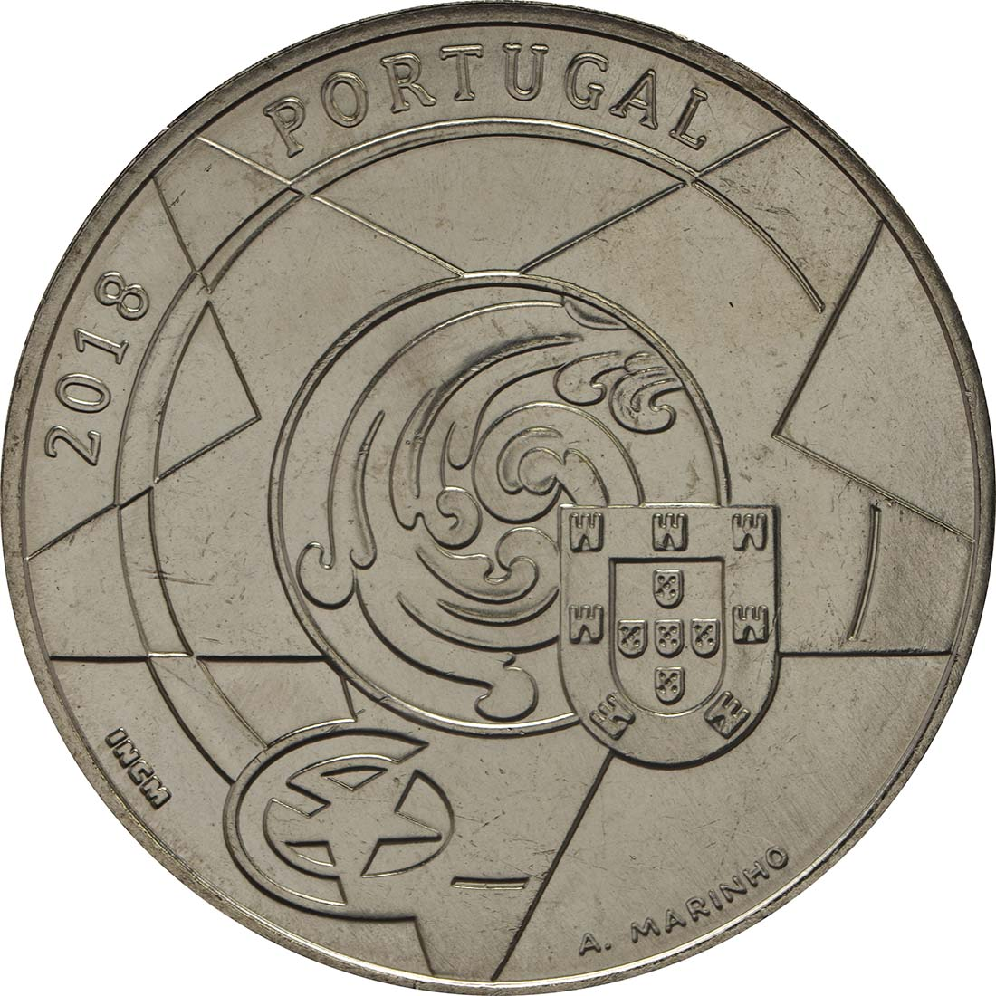 Rückseite :Portugal : 5 Euro Barock und Rokoko  2018 bfr
