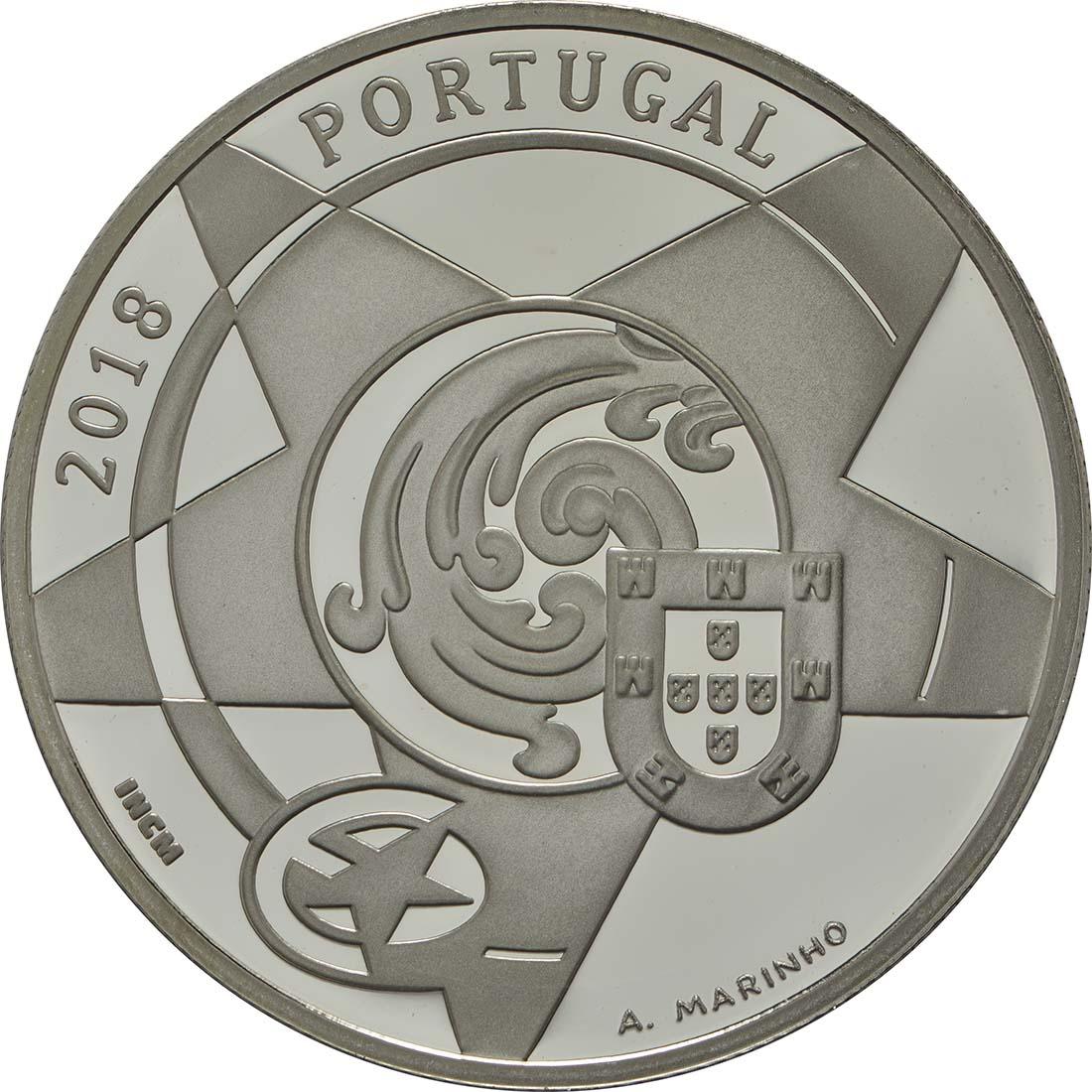 Rückseite:Portugal : 5 Euro Barock und Rokoko  2018 PP