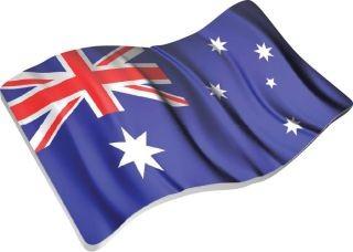 Lieferumfang:Niue : 2 Dollar Australiens wehende Flagge  2018 P/L
