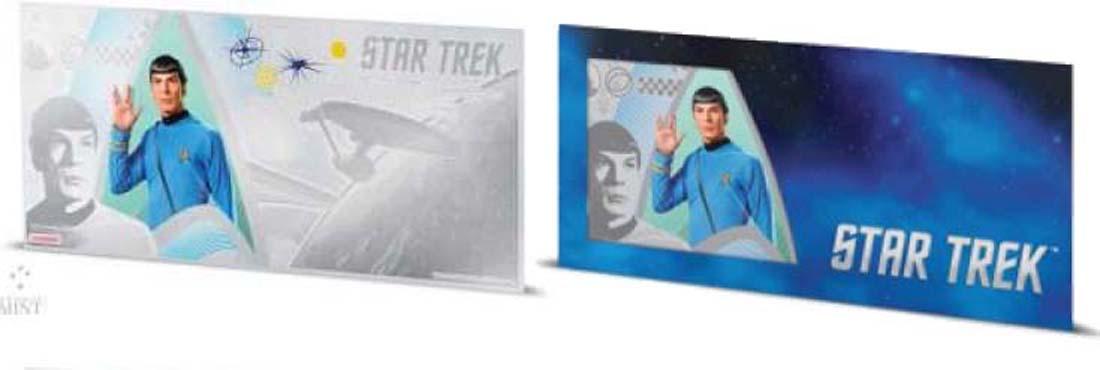 Niue : 1 Dollar Star Trek - Spock Silberbanknote  2018 Stgl.