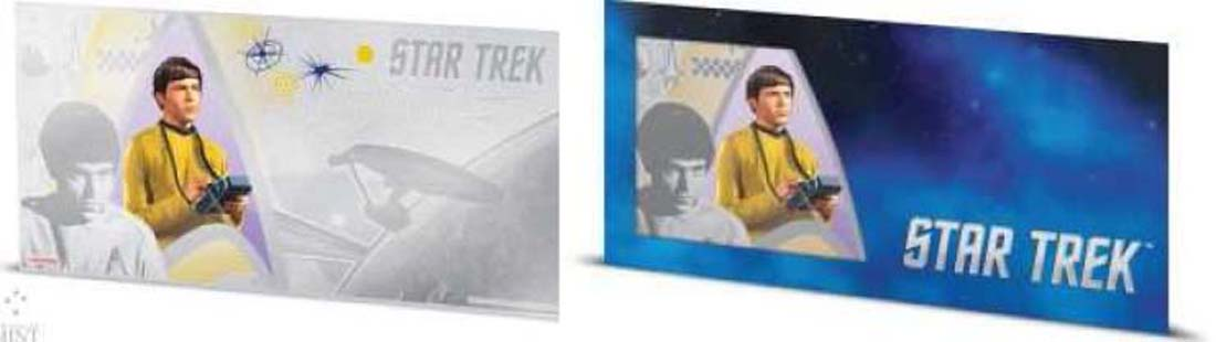 Niue : 1 Dollar Star Trek - Chekov Silberbanknote  2018 Stgl.