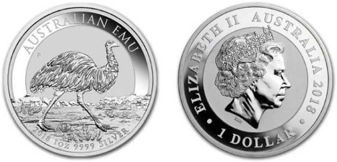 Australien : 1 Dollar Emu  2018 Stgl.