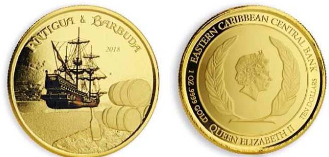 Antigua und Barbuda : 10 Dollar Rum Runner  2018 PP