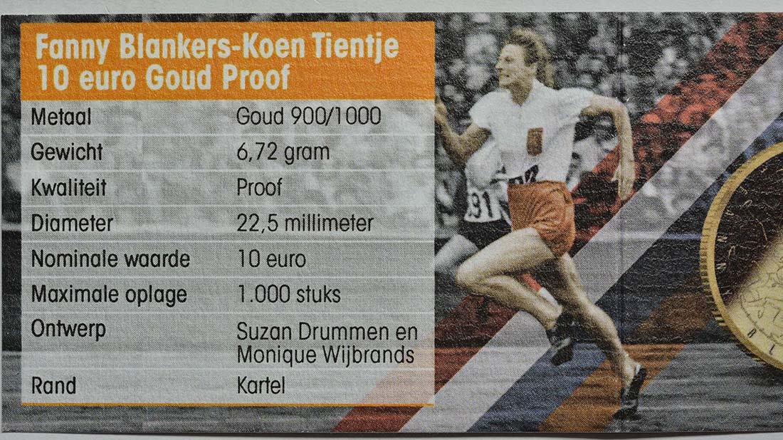 Zertifikat:Niederlande : 10 Euro Fanny Blankers-Koen  2018 PP
