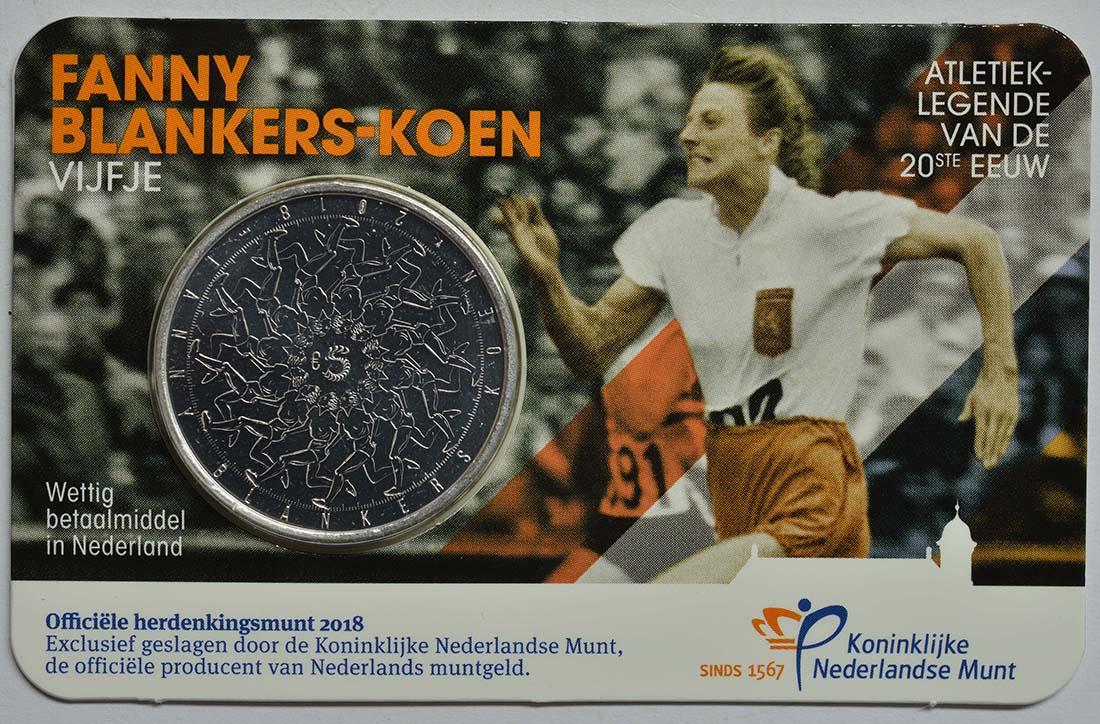 Lieferumfang:Niederlande : 5 Euro Fanny Blankers-Koen  2018 bfr
