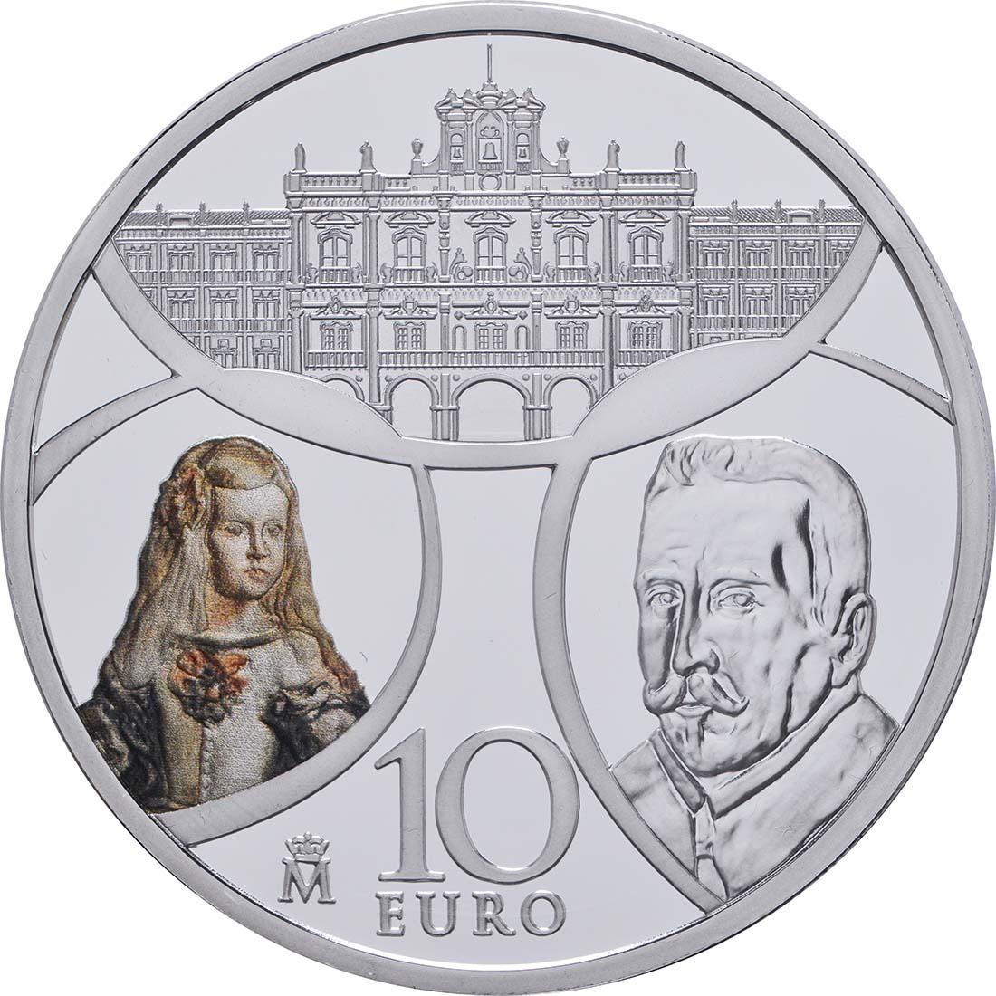 Vorderseite:Spanien : 10 Euro Barock und Rokoko  2018 PP